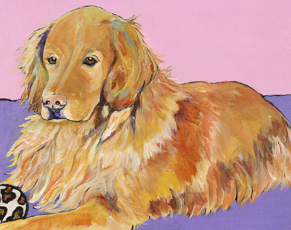 Golden Retriever Art Print featuring the painting Maya by Pat Saunders-White
