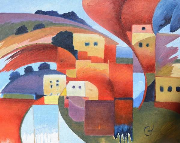 Sea Art Print featuring the painting Mediterranean Feel by Gary Coleman