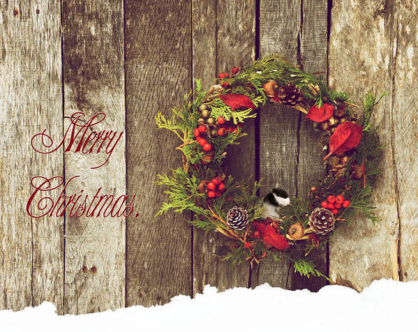 Country Print featuring the photograph Merry Christmas. by Kelly Nelson