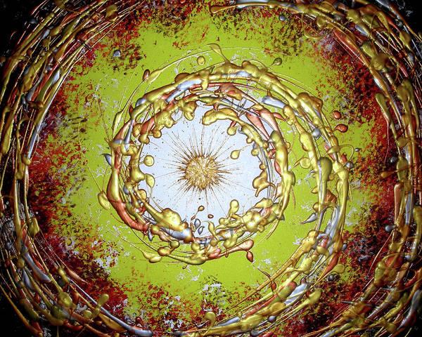 Original Art Print featuring the painting Metallic Dream by Daniel Lafferty