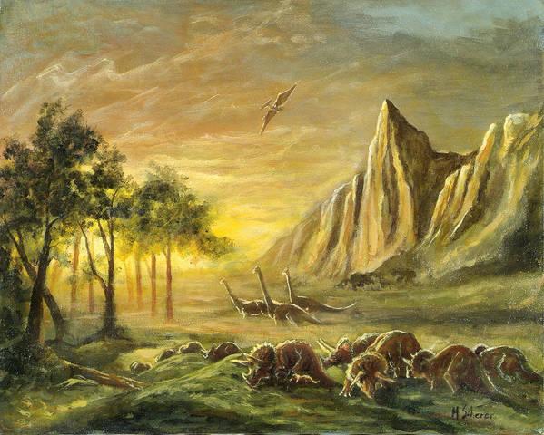 Landscape Art Print featuring the painting Migration by Michael Scherer