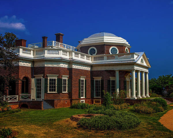 Monticello Art Print featuring the photograph Monticello by Andrew Soundarajan