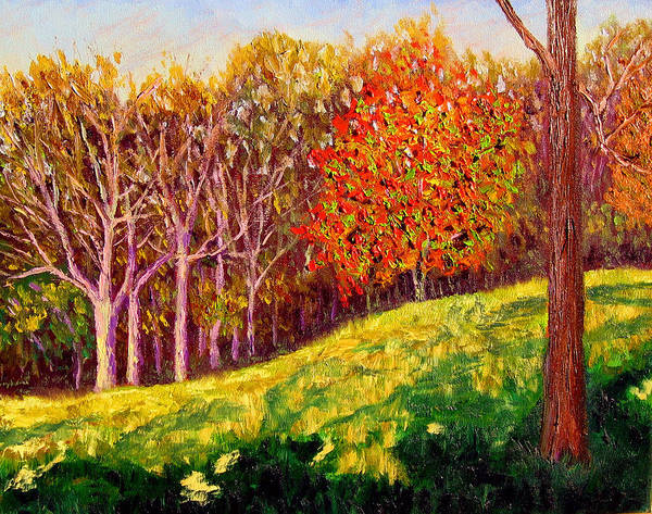 Autumn Art Print featuring the painting Mooresville October by Stan Hamilton
