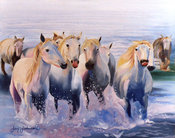 Art Print featuring the painting Morning Run by Jay Johnson