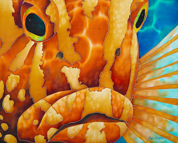 Grouper Painting Art Print featuring the painting Nassau Grouper by Daniel Jean-Baptiste