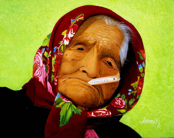 Portrait Art Print featuring the painting Native Survivor by JoeRay Kelley