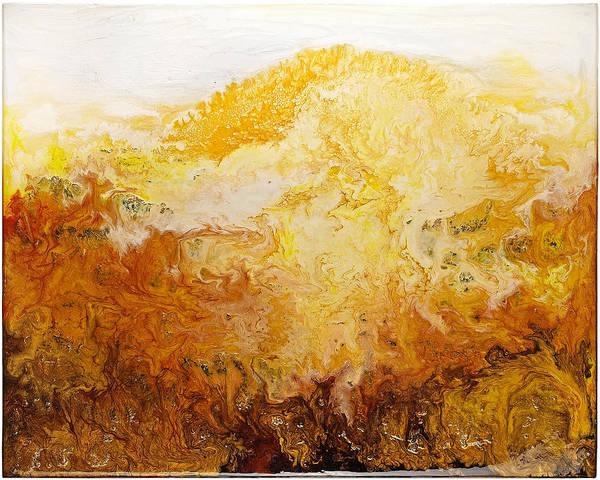Abstract Art Print featuring the painting New Beginning by Paul Tokarski