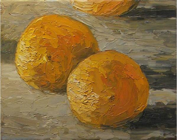 Oranges Art Print featuring the painting Nice Oranges by Tom Forgione