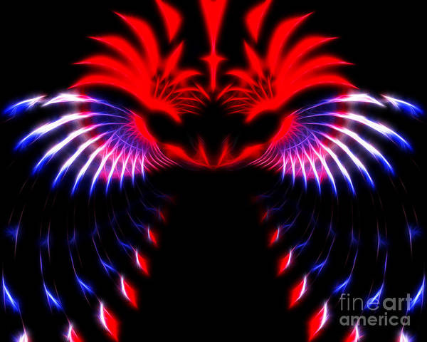 Digital Art Print featuring the photograph Night Eagle by White Stork Gallery