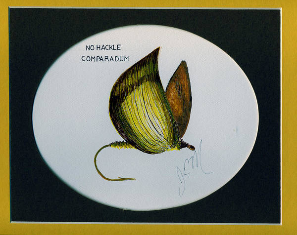 Art Print featuring the drawing No Hackel Comparadum by James Eugene Moore