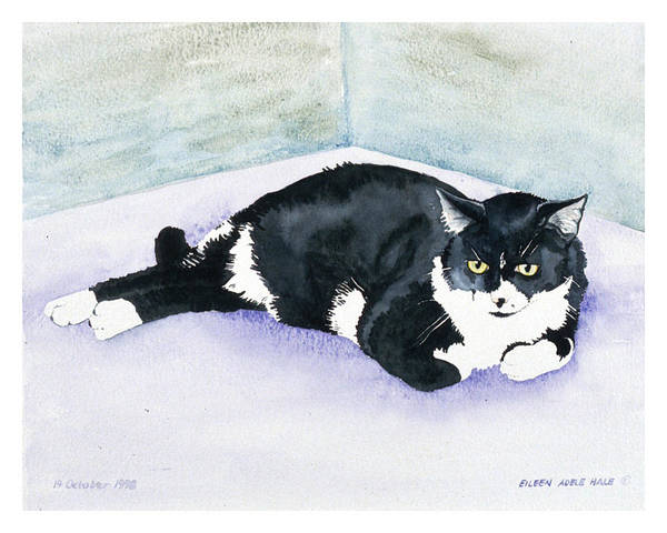 Portrait Art Print featuring the painting Nubby by Eileen Hale