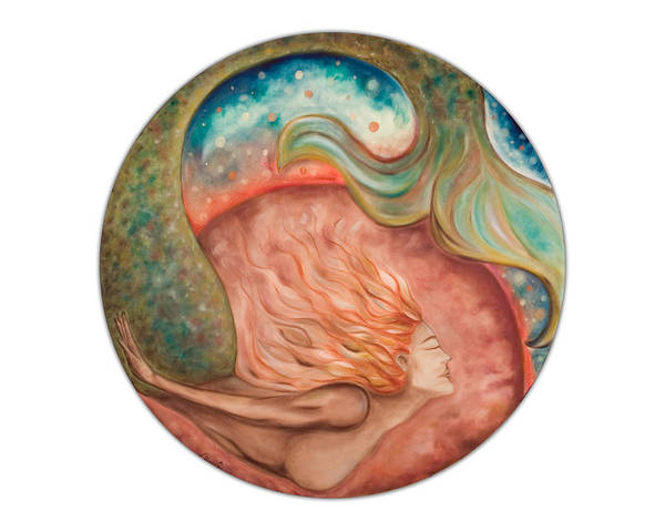 Ocean Spirit Inspiration Art Soul Spiritual Art Print featuring the painting Ocean Spirit by Moira Gil