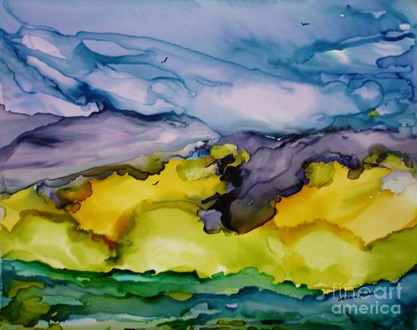 Landscape Art Print featuring the painting Ocean View by Susan Kubes