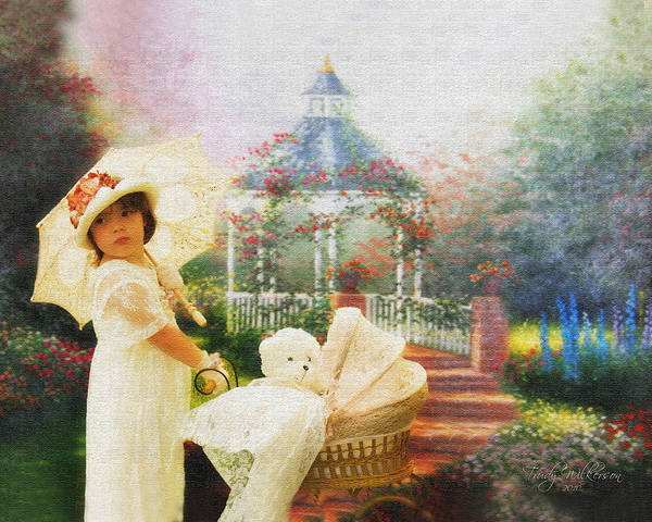 Stroll Art Print featuring the photograph Old Fashion Child Strolling by Trudy Wilkerson