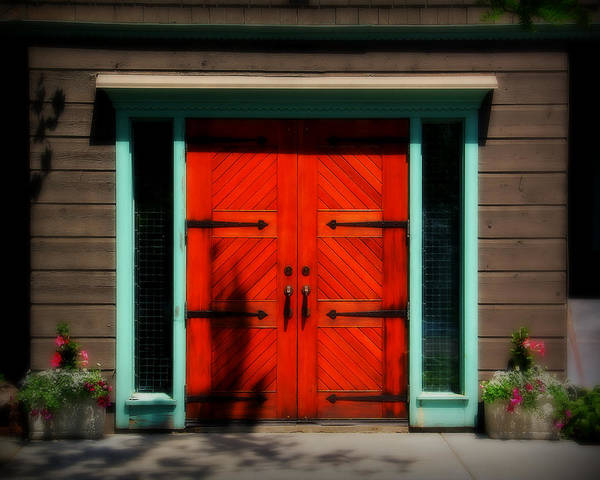 Door Art Print featuring the photograph Old Wooden Doors by Perry Webster