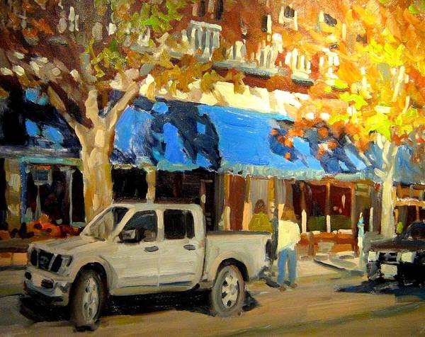 Citscape Paintings Art Print featuring the painting On Government Street by Brian Simons