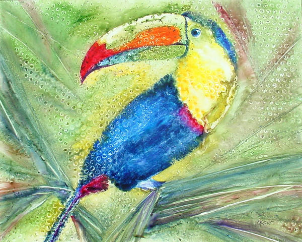 Toucan Art Print featuring the painting One Can't But Toucan by Marsha Elliott