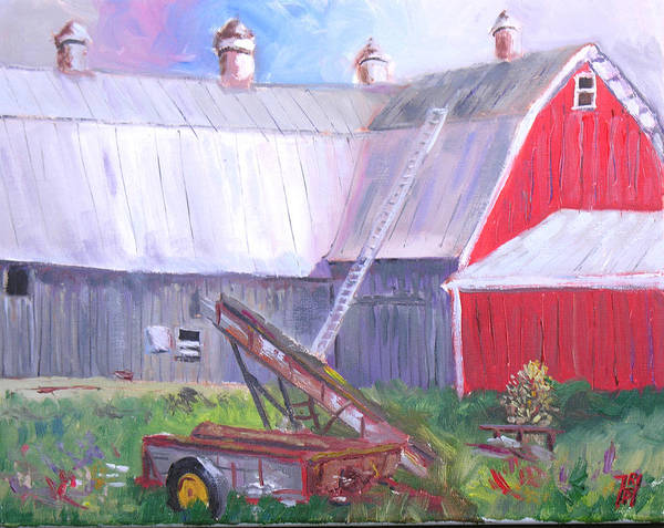 Barn Art Print featuring the painting Otter Creek Winery by Robert P Hedden
