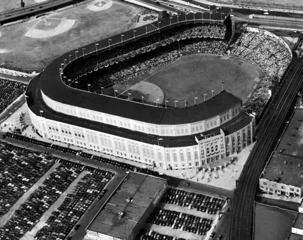 1940s Candid Art Print featuring the photograph Over 70,000 Fans Jam Yankee Stadium by Everett