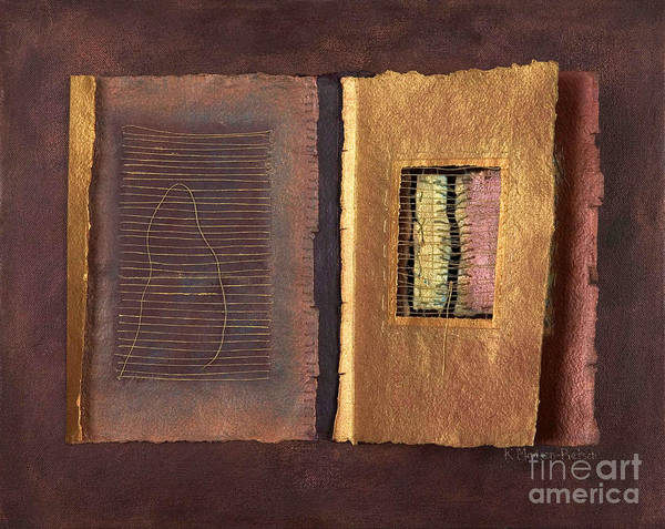 Pageformat Art Print featuring the painting Page Format No 2 Transitional Series by Kerryn Madsen-Pietsch