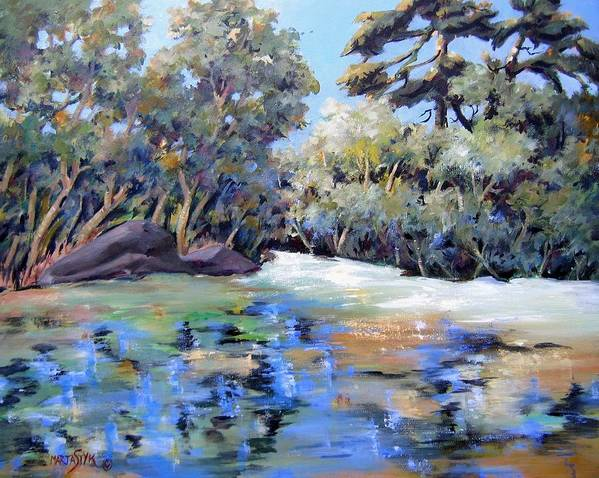 Landscape Art Print featuring the painting Painting In The Park by Marta Styk