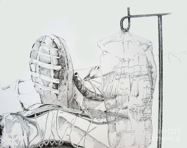 Boot Art Print featuring the drawing Patriotism by Jean Nathan Forges