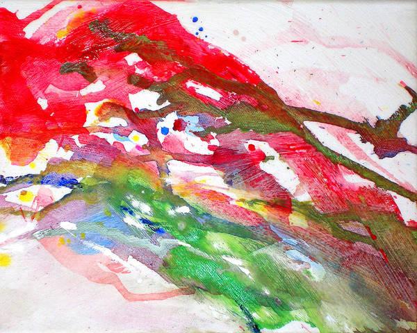 Paul Jenkins Art Print featuring the painting Paul's Flight by Ken Meyer
