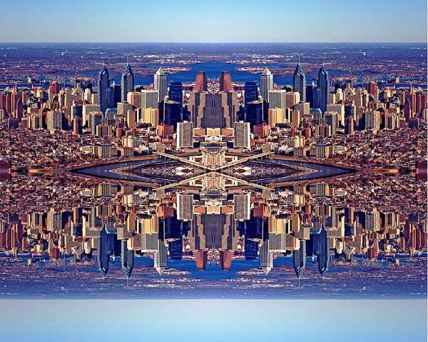 Philadelphia Art Print featuring the photograph Philadelphia Geometric Collage by Duncan Pearson