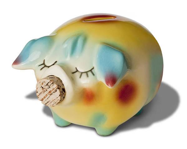 Piggy Bank Art Print featuring the photograph Piggy by Kelley King