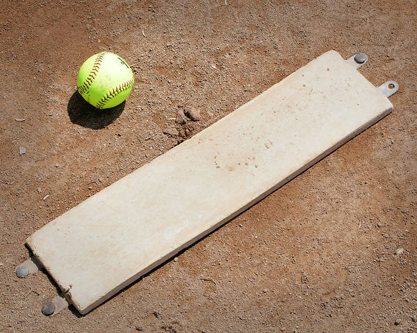 Softball Art Print featuring the photograph Pitchers Mound by Kelley King