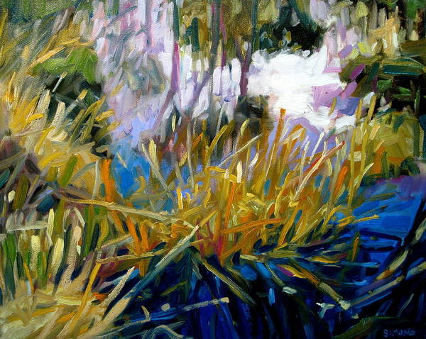 Pond Paintings Art Print featuring the painting Pond by Brian Simons