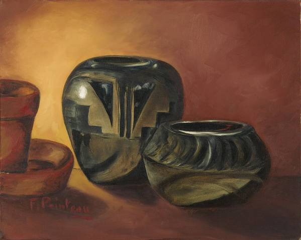 Pottery Art Print featuring the painting Pottery by Francoise Villibord Pointeau