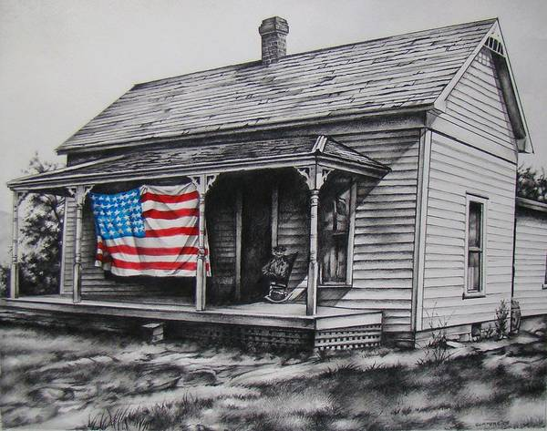 Flag Print featuring the mixed media Pride by Michael Lee Summers