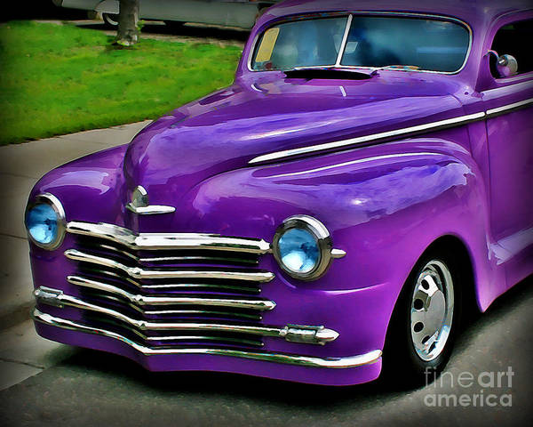 Car Art Print featuring the photograph Purple Cruise by Perry Webster