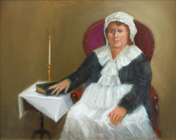 Quaker Art Print featuring the painting Quaker Lady by Marjorie Harris