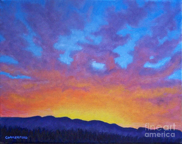 Landscape Art Print featuring the painting Radiance by Brian Commerford