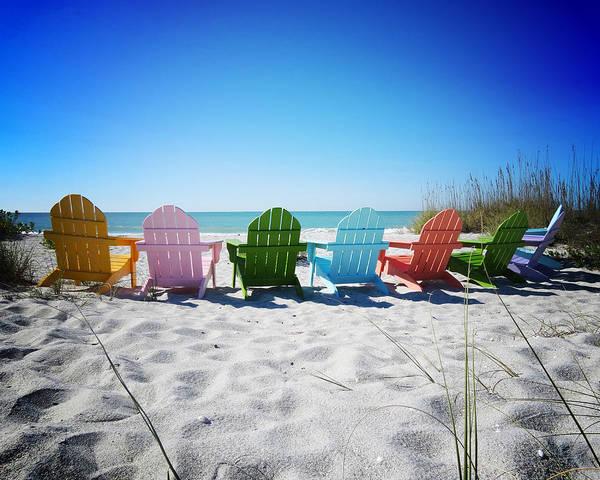 Florida Art Print featuring the photograph Rainbow Beach Vanilla Pop by Chris Andruskiewicz