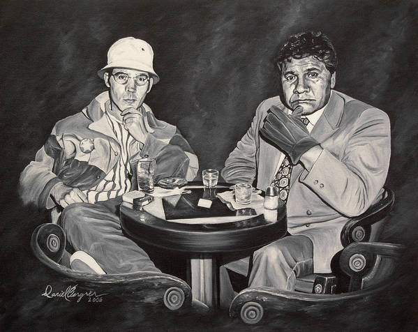Hst Art Print featuring the painting Raoul And Dr. Gonzo In Las Vegas by Daniel Bergren