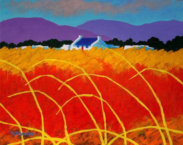 Landscape Art Print featuring the painting Red Door by John Nolan