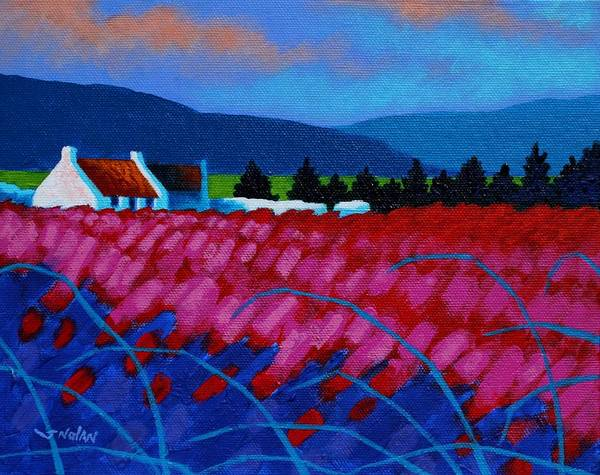 Landscape Art Print featuring the painting Red Meadow by John Nolan
