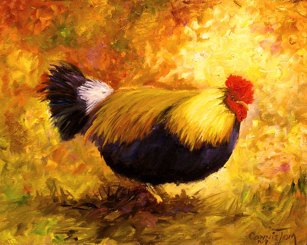 Chicken Art Print featuring the painting Redhead by Connie Tom