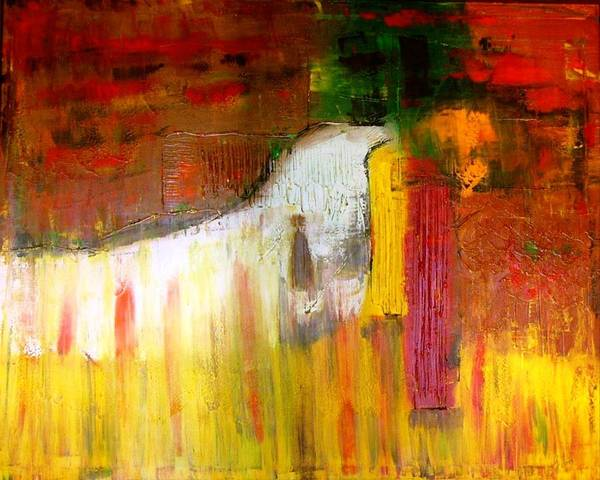 Vibrant Art Print featuring the painting Relaxation by Glenda Jones