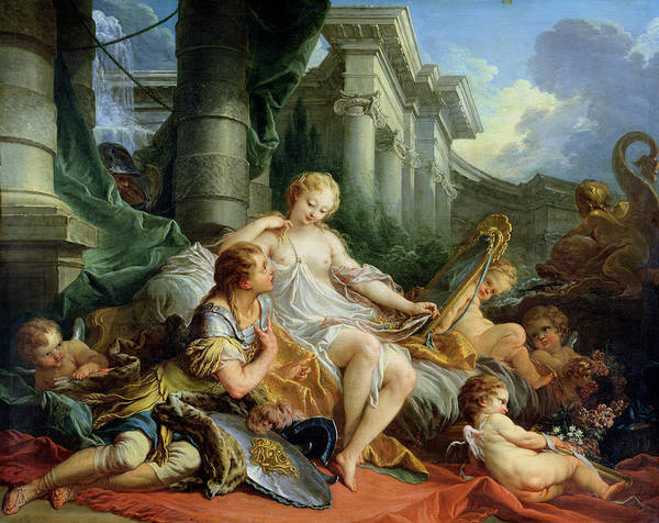 Rinaldo Art Print featuring the painting Rinaldo And Armida by Francois Boucher