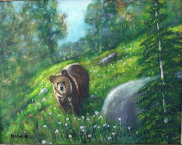 Wildlife Art Print featuring the painting Rocky Mountain Spring by Darla Joy Johnson