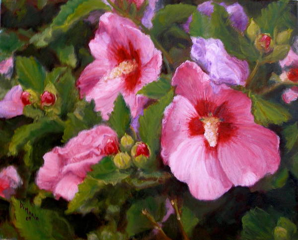 Realism Art Print featuring the painting Rose Of Sharon by Donelli DiMaria