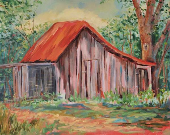 Chicken Coops Art Print featuring the painting Russel Crow by Ginger Concepcion