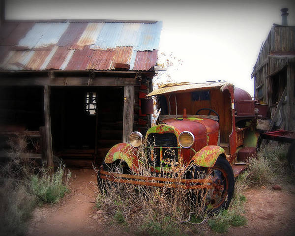 Car Art Print featuring the photograph Rusted Classic by Perry Webster