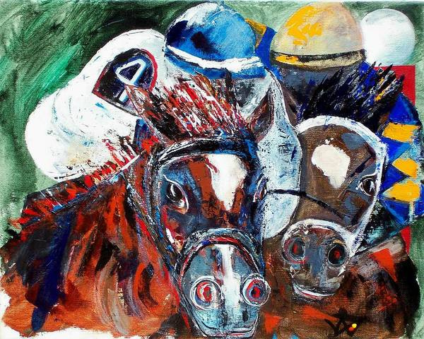 Horse Art Print featuring the painting Saratoga Duo by Valerie Wolf