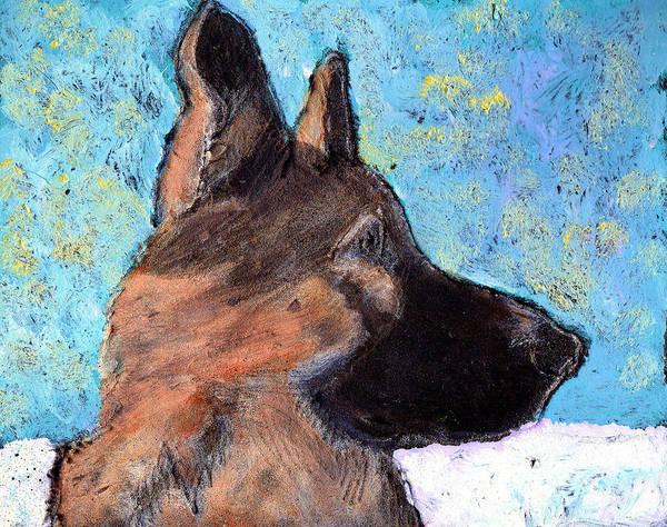 Dog Art Print featuring the painting Sarge II by Wayne Potrafka