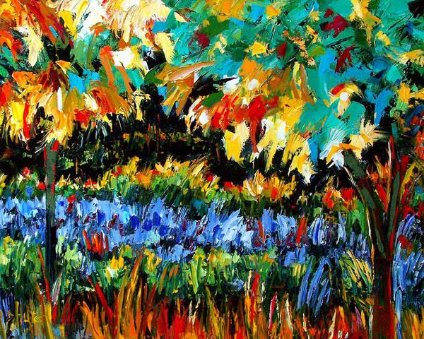 Landscape Art Print featuring the painting Secret Garden by Debra Hurd